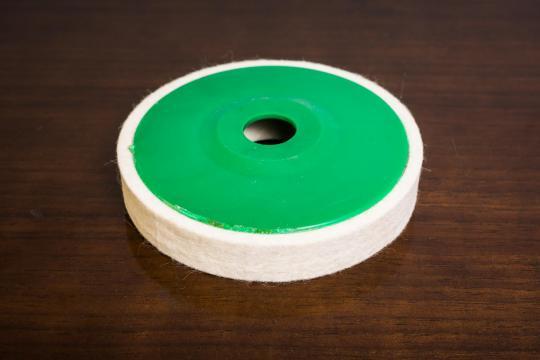 Discuri din pasla pe suport 115x15x22 mm