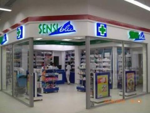 Fatade de sticla pentru farmacii Sensiblu