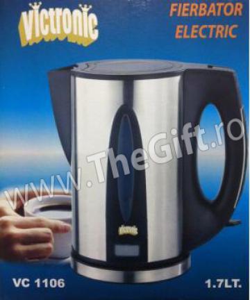 Fierbator electric metalic pentru apa, de 1.7 l, Victronic