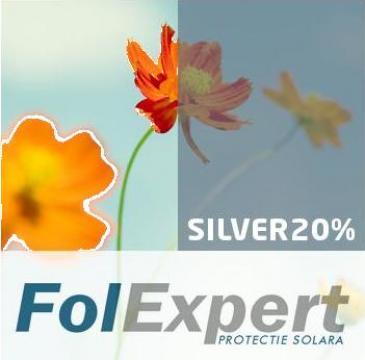 Folie termopan de protectie termica si solara Silver 20%