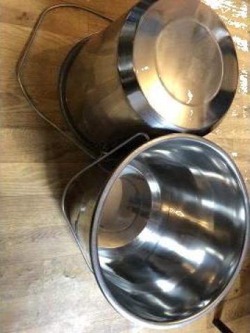 Galeata inox 15 L, grosime tabla 0,8mm