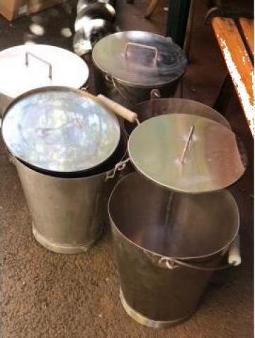 Galeti inox cu capac 10 litri cu capac