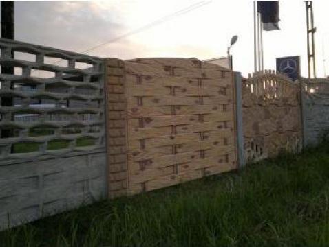 Gard beton cu lemn impletit 30/2, 30/1, 30/1