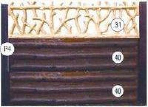 Gard beton cu lemn rustic