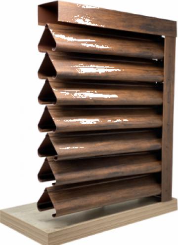 Gard - jaluzele Piramida 2000x1165 mm imitatie lemn mahon