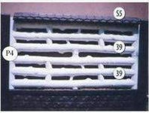 Gard placi beton cu lemn Nr. 12