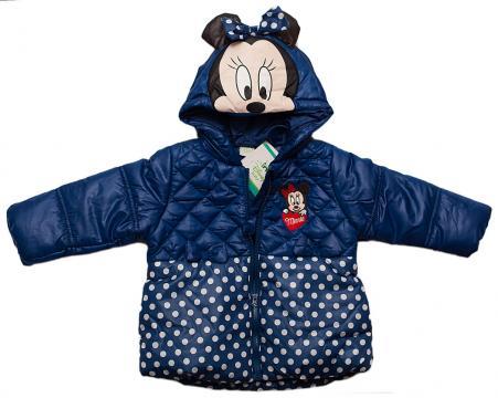 Geaca iarna cu gluga Minnie, fete, bleumarin