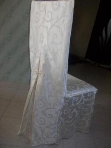Husa de scaun cu spatar inalt din brocard