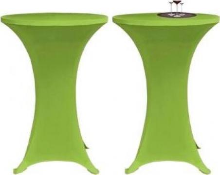 Husa elastica pentru masa, 60 cm, verde, 2 buc.