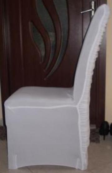 Huse de scaune licra alb