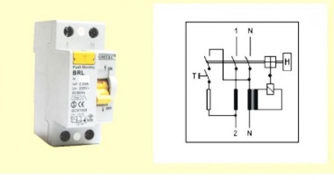 Intrerupator automat diferential 2P, 63A