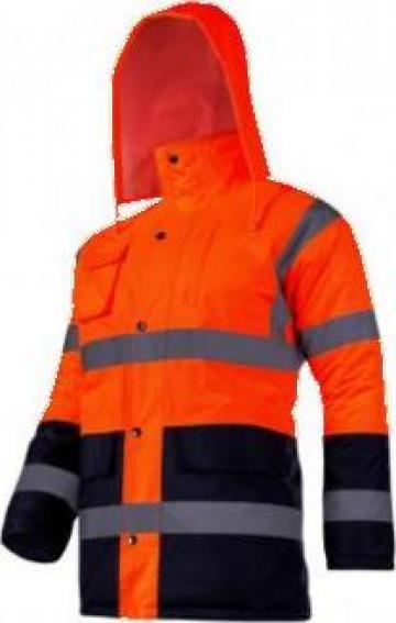 Jacheta reflectorizanta captusita / portocaliu