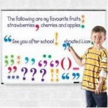 Joc educativ magnetic - Semne de punctuatie