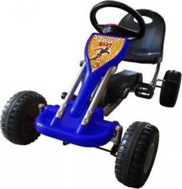 Jucarie masina kart cu pedale Go Kart, albastru