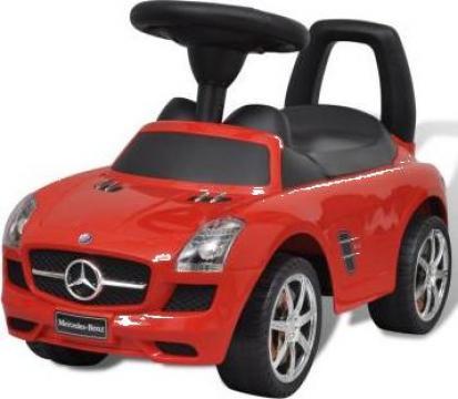 Jucarie masina pentru copii fara pedale Mercedes Benz rosu