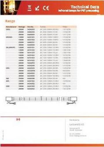 Lampa infrarosu Philips 14134Z/98 1200W 235V 225