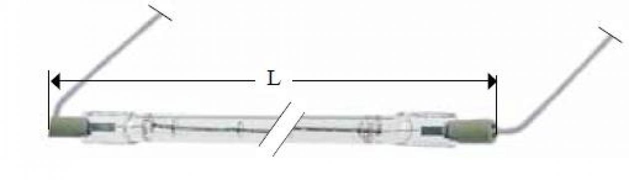 Lampa infrarosu R7s, 230V, 1000W, L428mm 359622