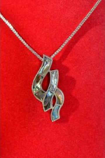 Lant + pandantiv argint 925 cu abalone