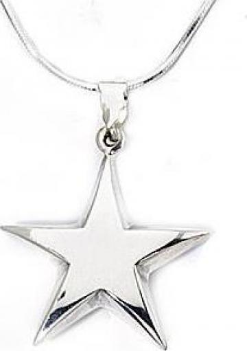 Lantisor + medalion stea, din argint