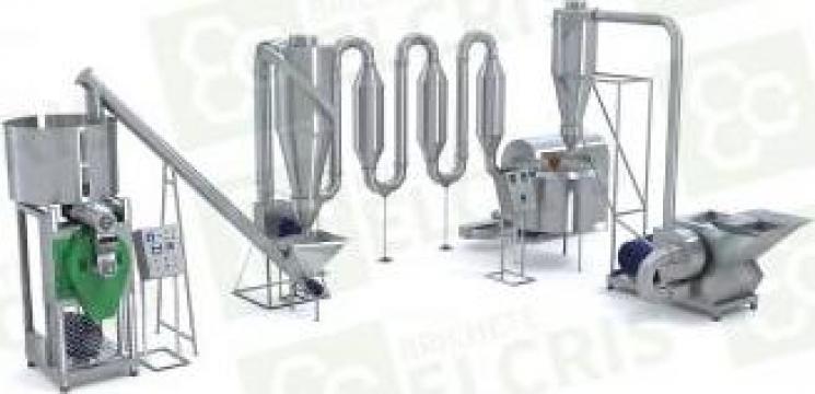 Linie de brichetare PK 450 kg/h cu sistem complex de tocare