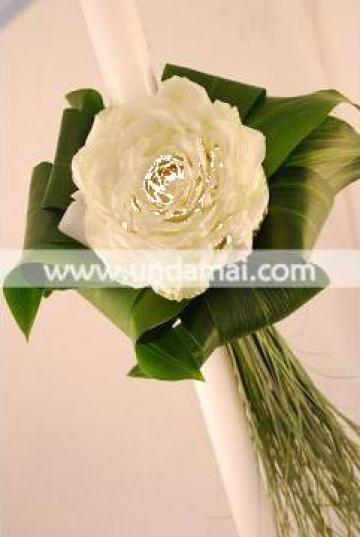 Lumanare nunta trandafir