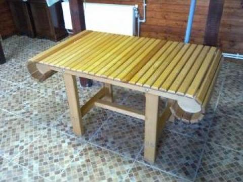 Masa din lemn stejar pentru terase