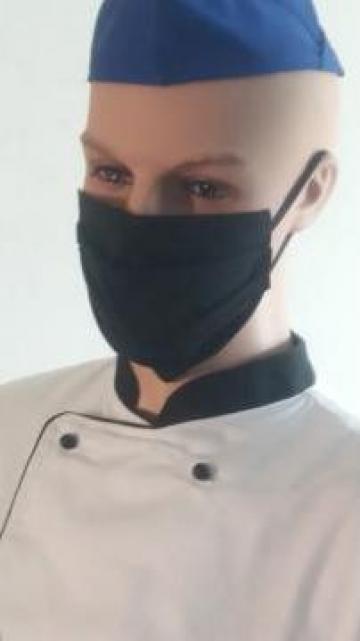 Masca neagra de protectie chirurgicala bumbac