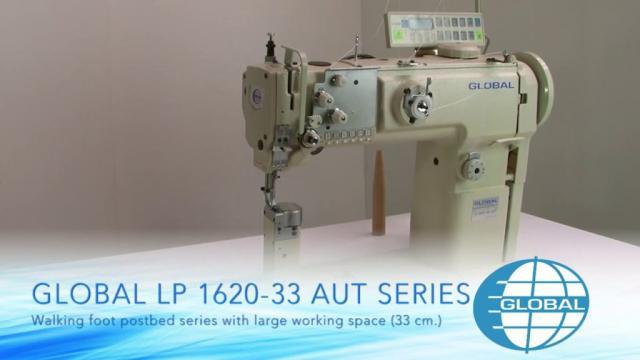 Masina de cusut cu coloana - 2 ace Global LP 1626-33-AUT