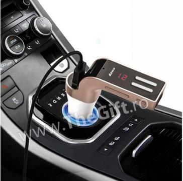Modulator FM, MP3 Player cu bluetooth si telecomanda