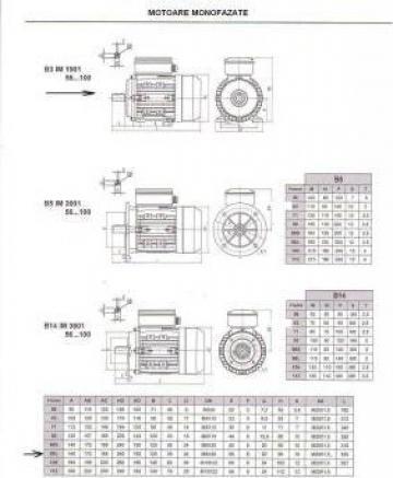 Motor electric monofazat 2.2kW x 3000rpm