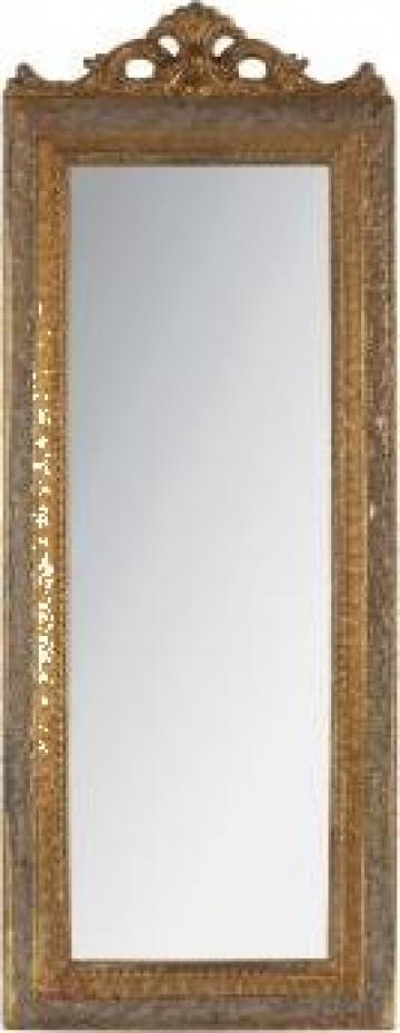 Oglinda cu rama din lemn antichizat Noblesse