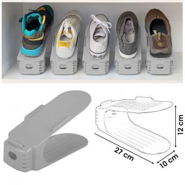 Organizator plastic pentru pantofi - gri