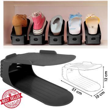 Organizator plastic pentru pantofi - negru