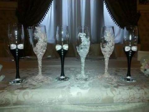 Pahare de sampanie decorate