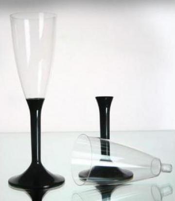 Pahare sampanie plastic