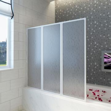 Panou separeu pentru baie 141 x 132 cm pliabil in 3