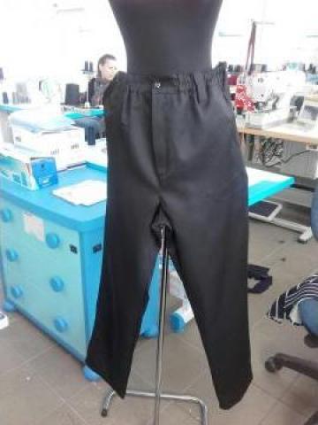 Pantalon de paza negru tercot