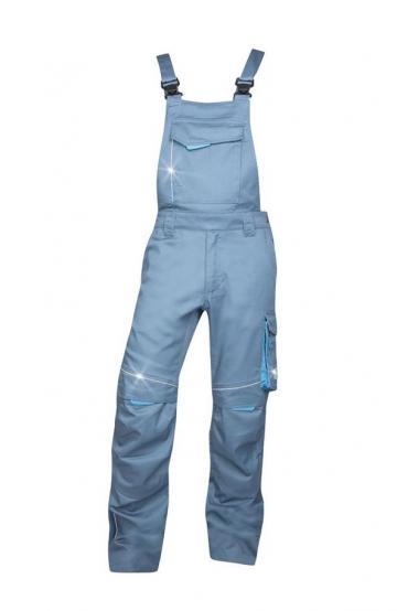 Pantaloni de lucru cu pieptar Summer gri (176-182cm) - Ardon