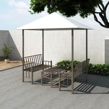 Pavilion de gradina cu masa si banci 2,5x1,5x2,4 cm