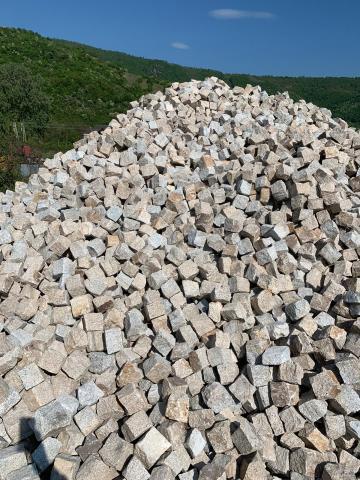 Piatra cubica din granit sare si piper