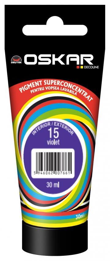 Pigment Oskar pentru vopsea lavabila 15 violet 30 ml