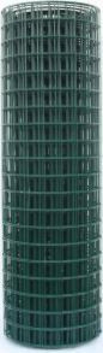 Plasa gard sudata plastificata H, grosime 2.5 mm