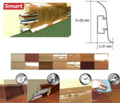 Plinta PVC parchet Smart, accesorii plinte PVC