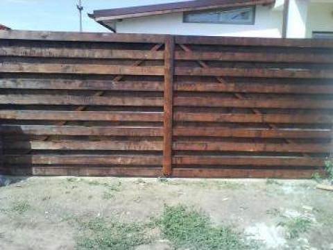 Poarta lemn