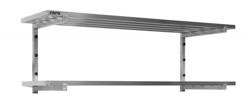 Polita de perete cu tije, 2 rafturi, 800mm