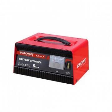 Redresor pentru baterii auto Worcraft BC-217, 12V 230V, 5A
