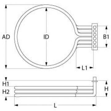 Rezistenta 7500 W, 230 V, 3 circuite incalzire 418143