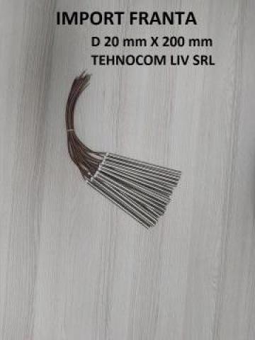 Rezistenta - cartus L 200 mm; P 800-2000W, D=20 mm