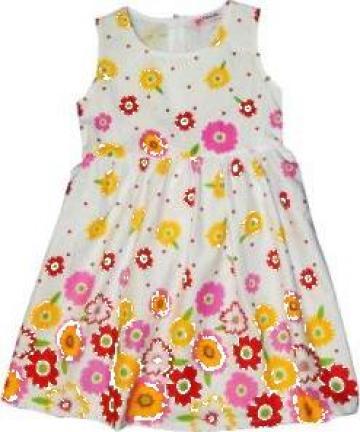 Rochie de vara din bumbac pentru fetite