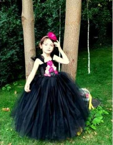 Rochita eleganta neagra pentru fetite 1423